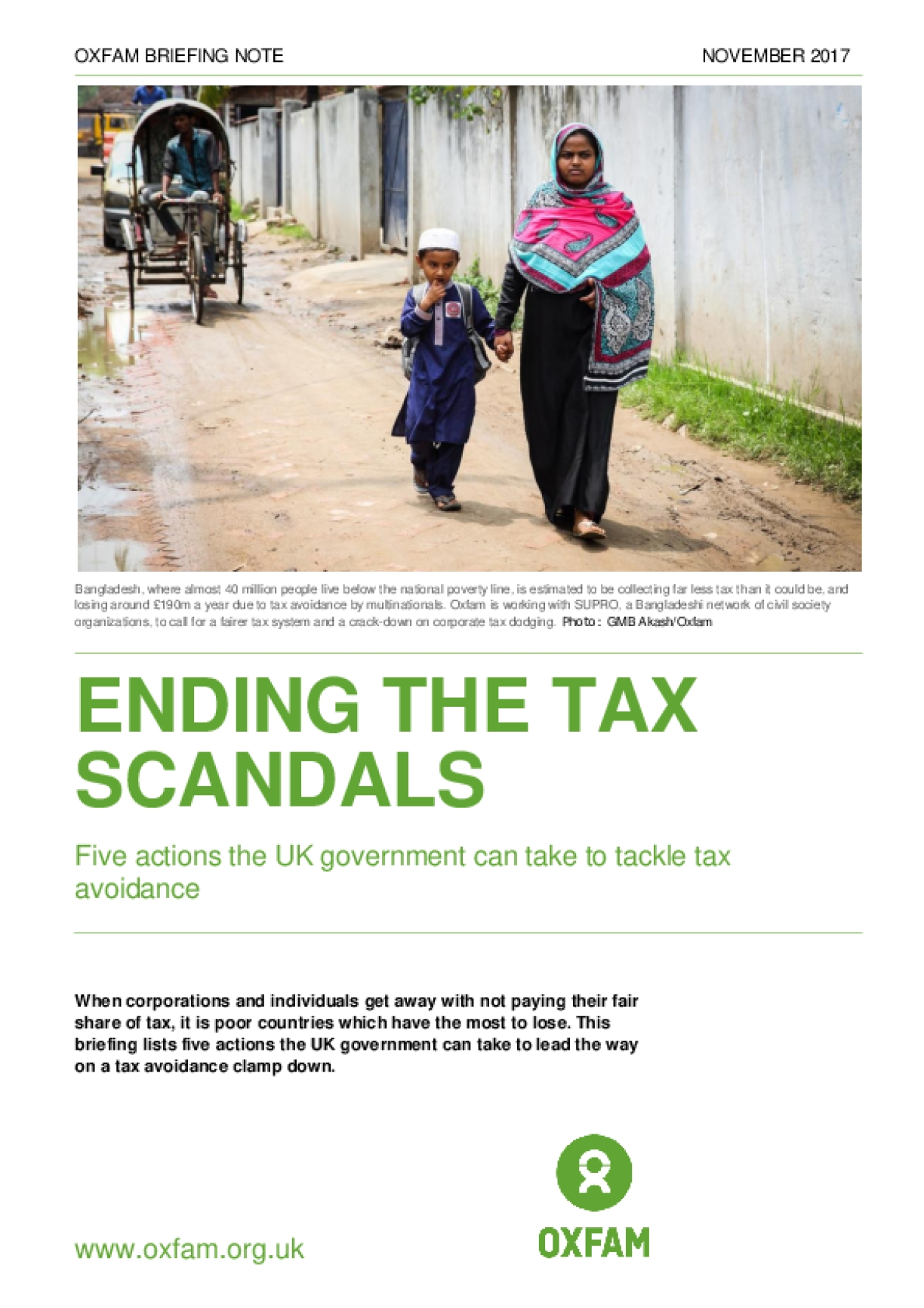 Ending the Tax Scandals: Five Actions the UK Government Can Take to Tackle Tax Avoidance