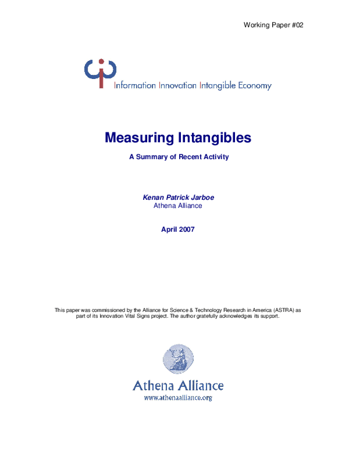 Measuring Intangibles