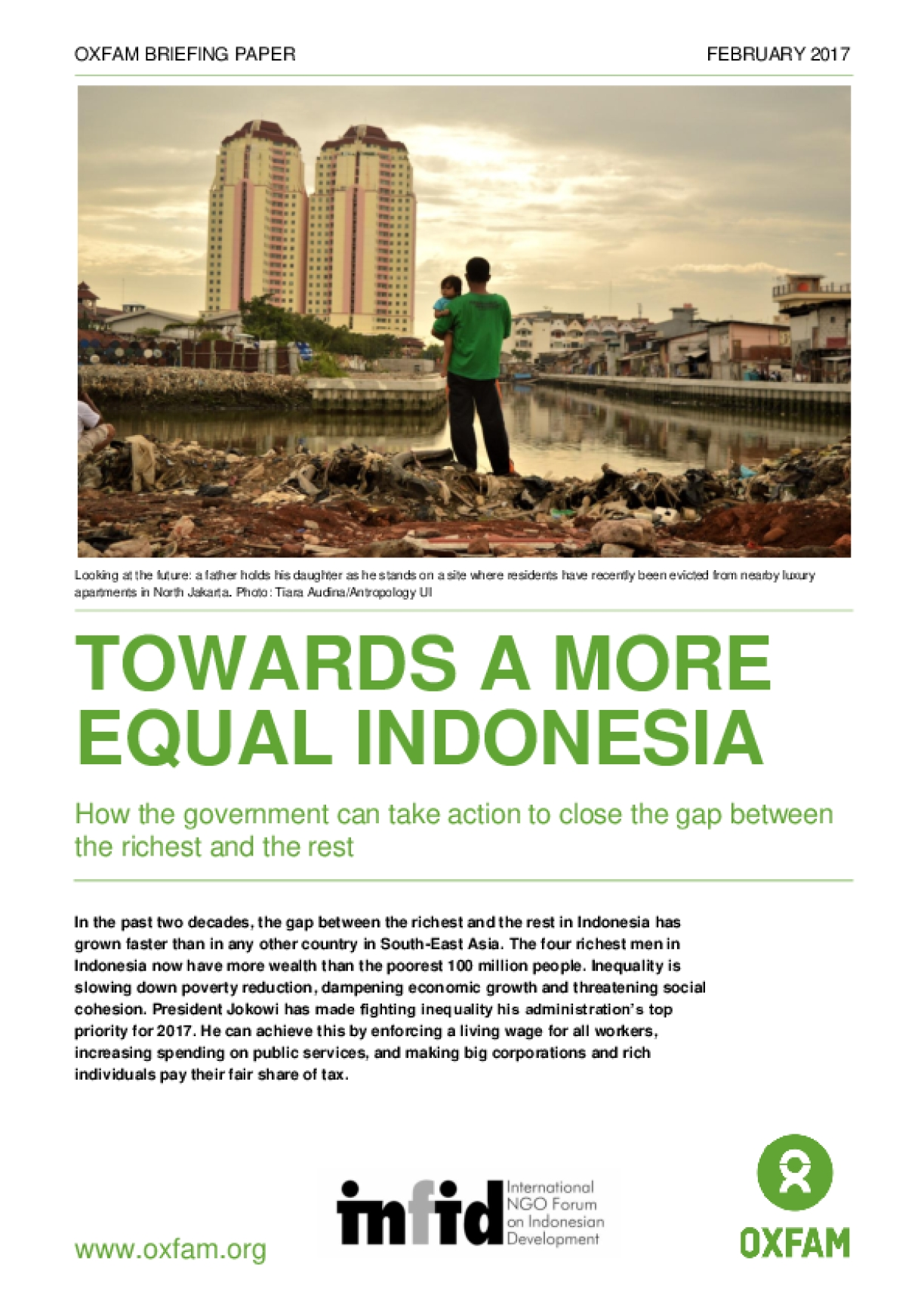 Towards a More Equal Indonesia: How the Government Can Take Action to Close the Gap Between the Richest and the Rest