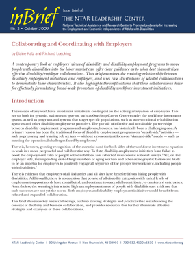 Collaborating and Coordinating with Employers