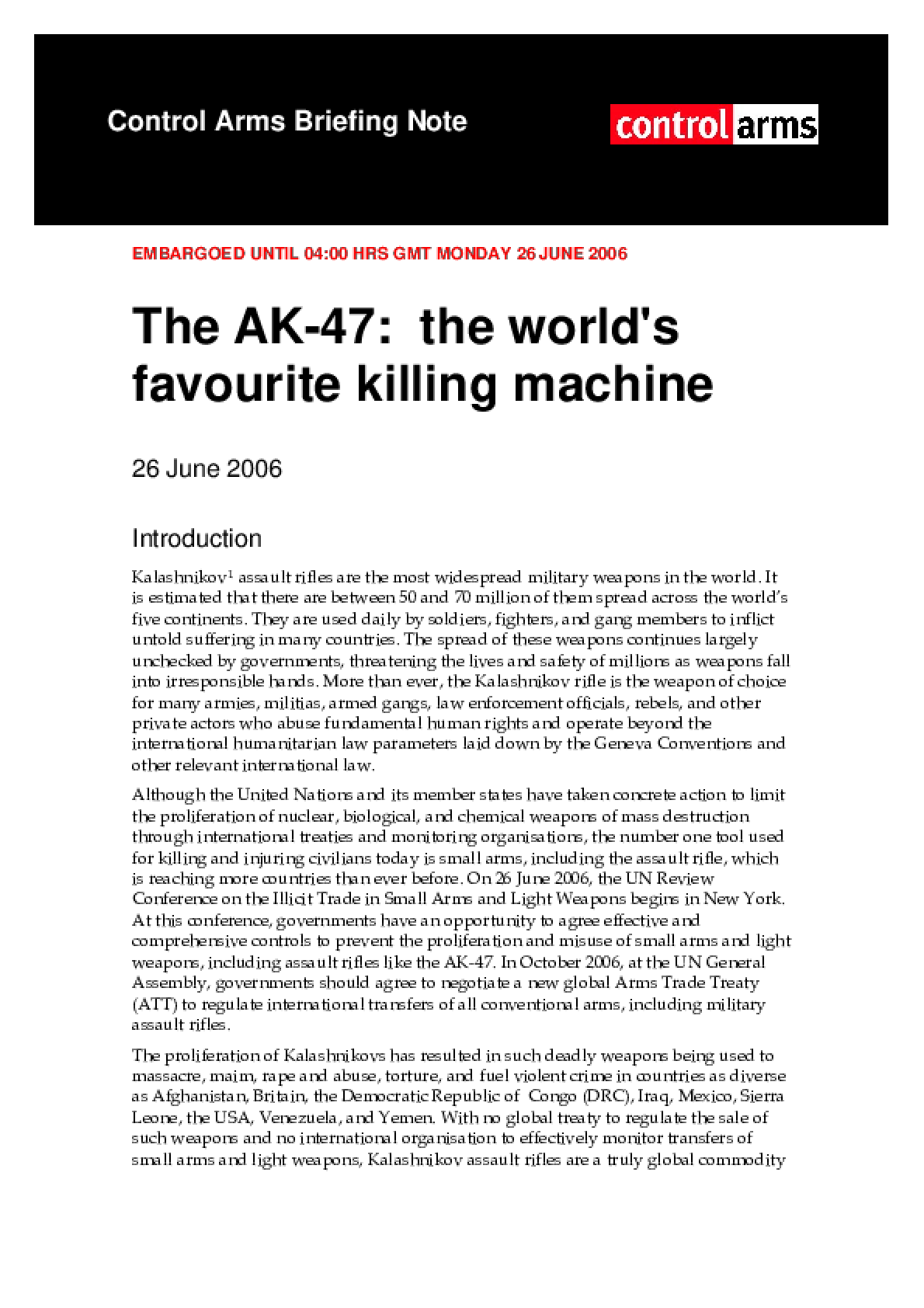 The AK47: The world's favourite killing machine