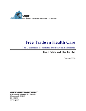 Free Trade in Health Care: The Gains from Globalized Medicare and Medicaid