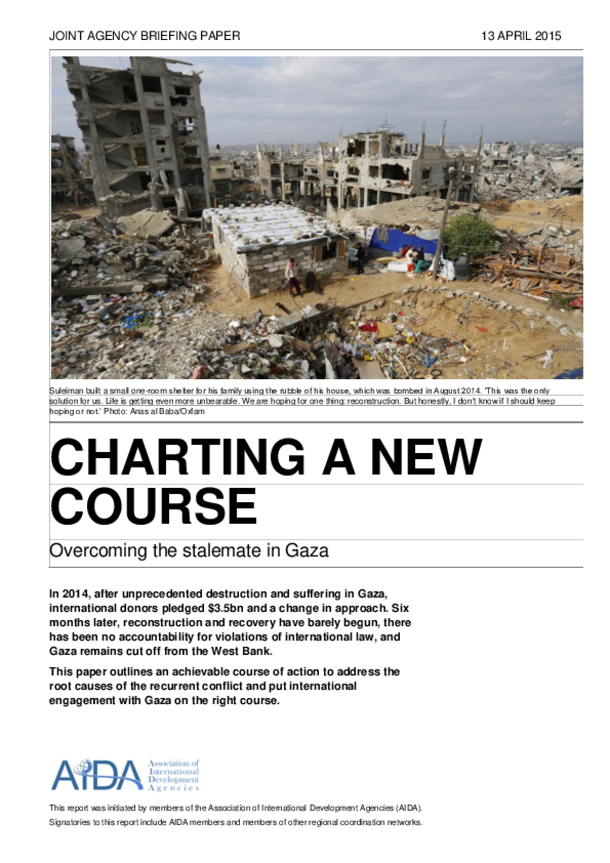 Charting a New Course: Overcoming the stalemate in Gaza