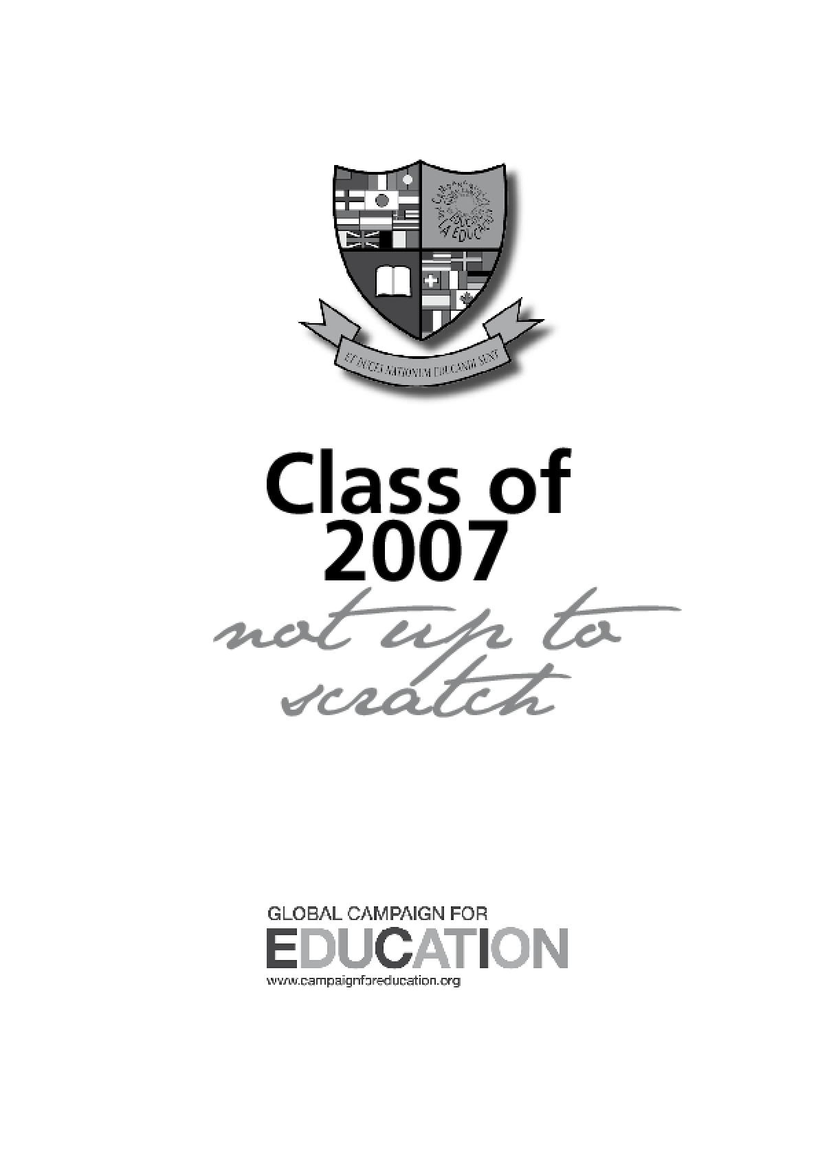 Class of 2007: Not up to scratch
