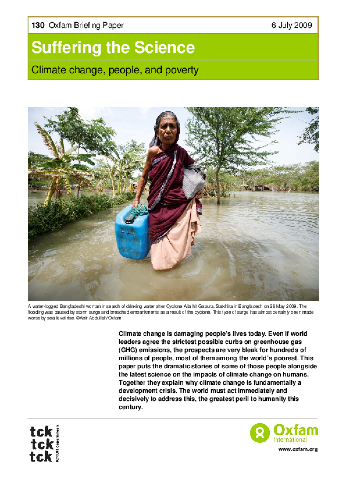 Suffering the Science: Climate change, people, and poverty