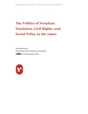 The Politics of Norplant: Feminism, Civil Rights, and Social Policy in the 1990s