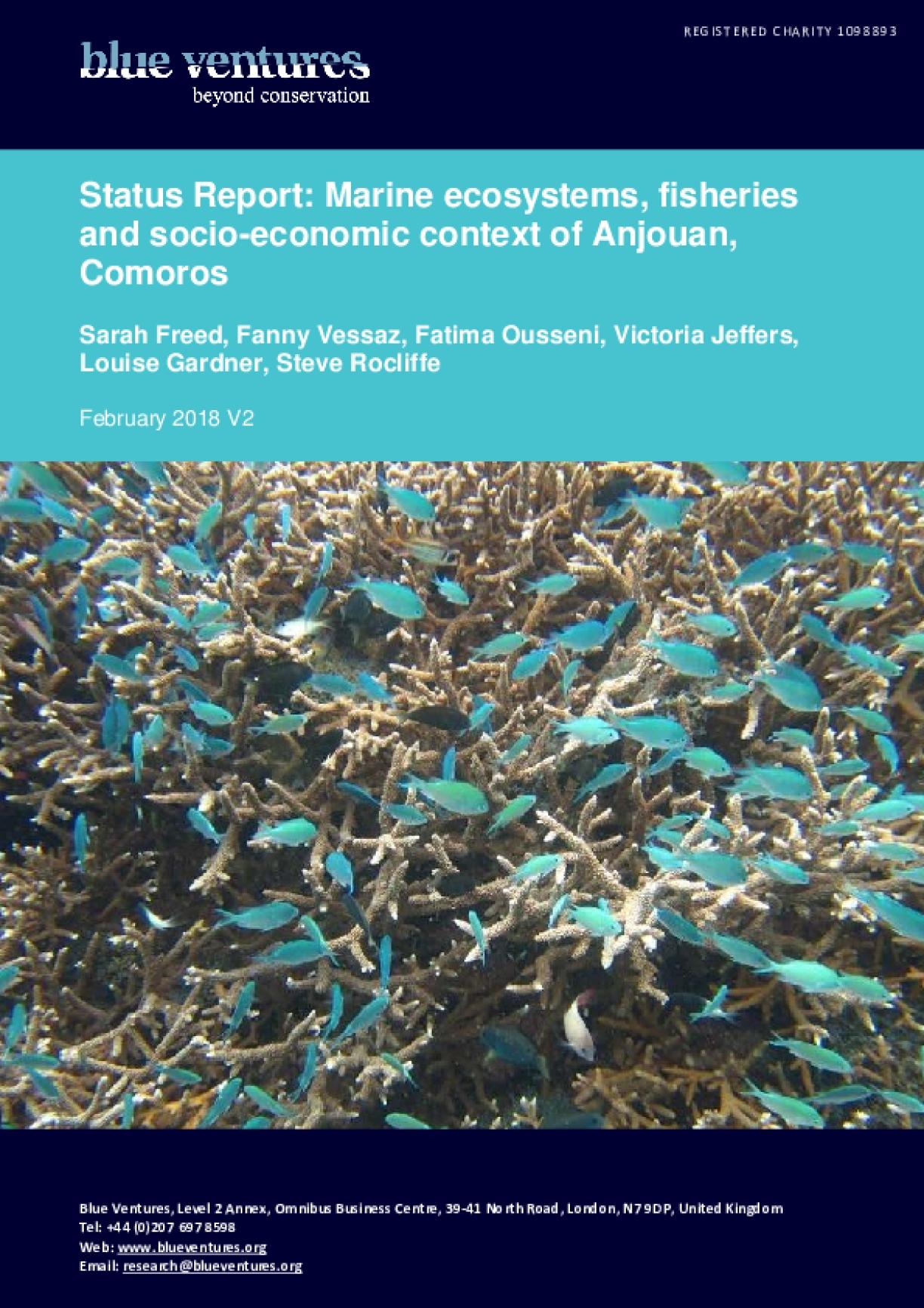 Status Report: Marine ecosystems, fisheries and socio-economic context of Anjouan, Comoros