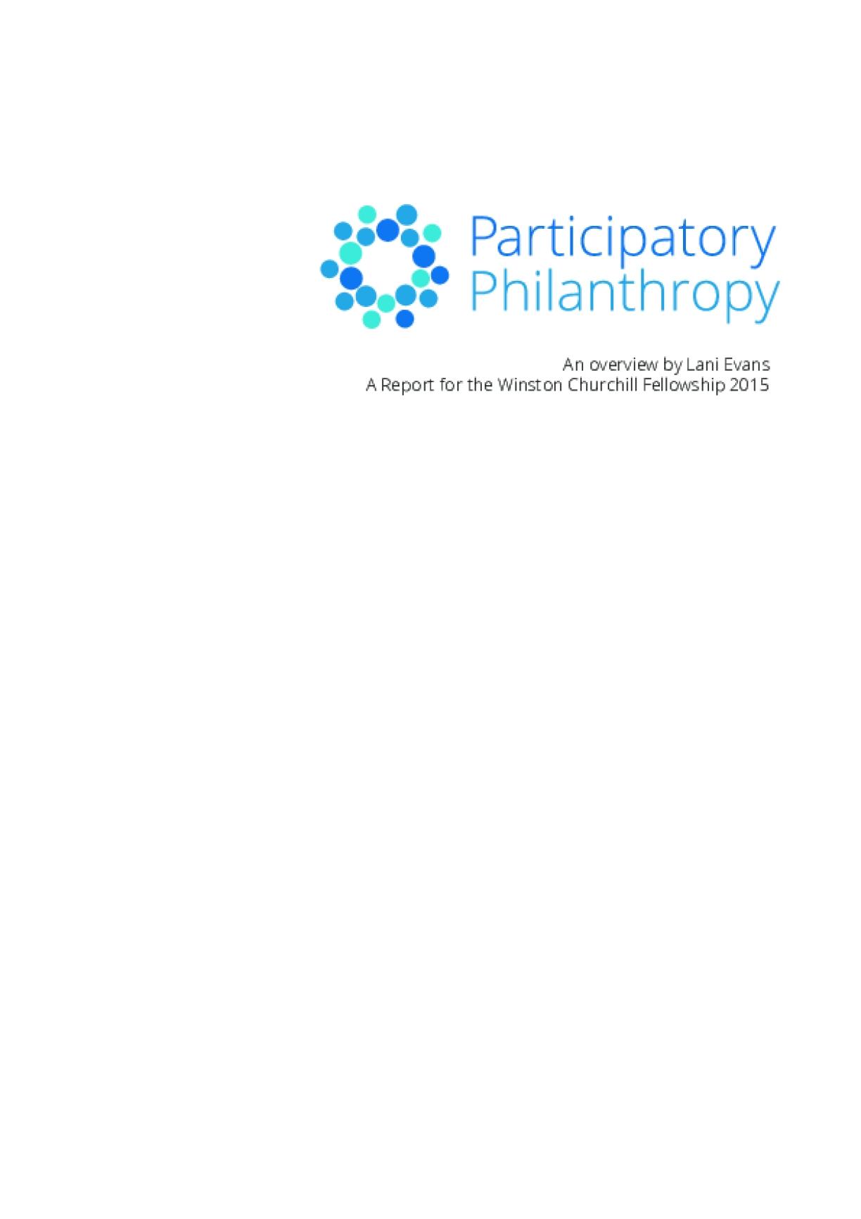 Participatory Philanthropy