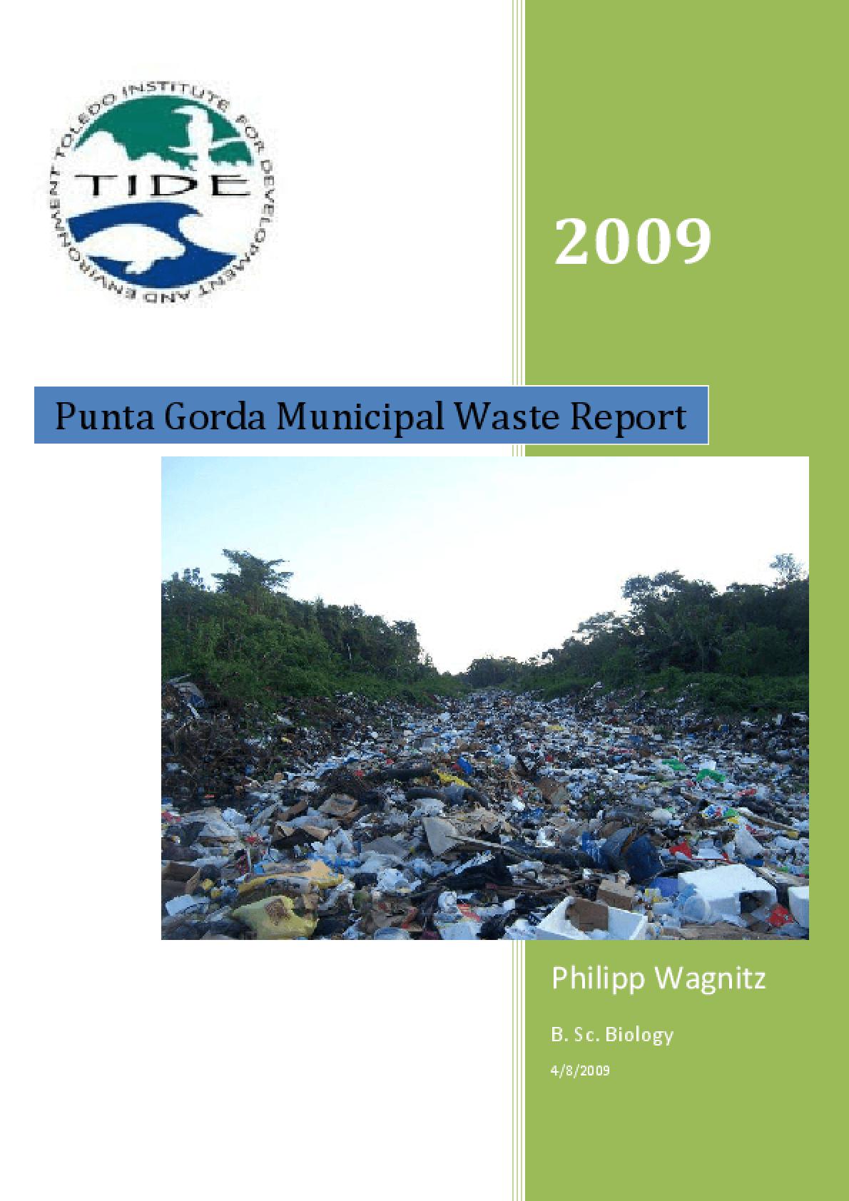 Punta Gorda Municipal Waste Report