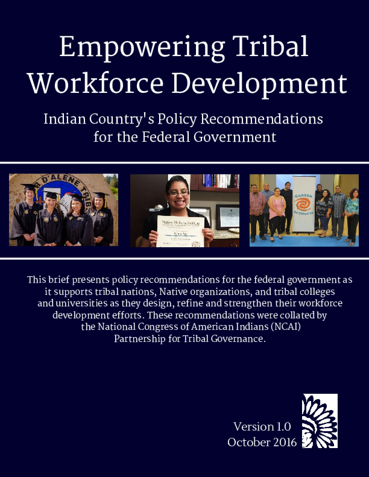 Empowering Tribal Workforce Development - Indian Country's Policy Recommendation for the Federal Government