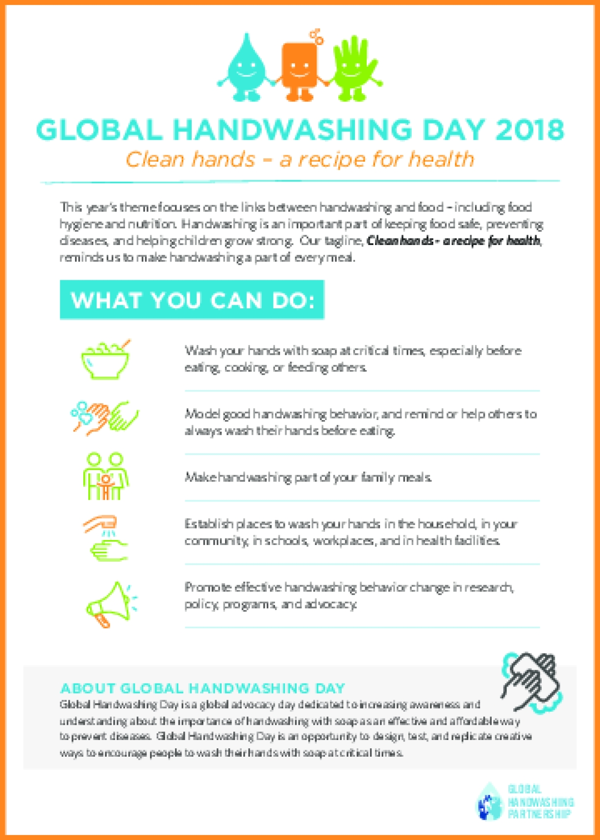 Clean Hands – A Recipe for Health