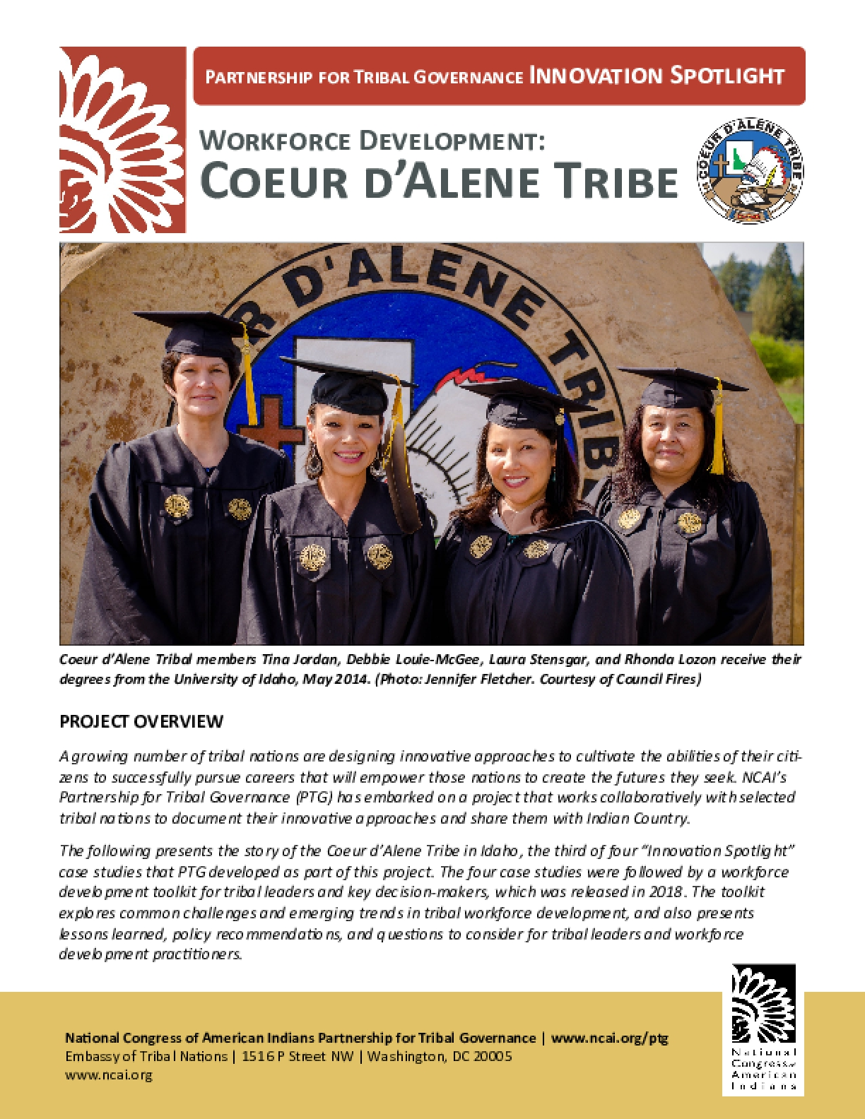 Workforce Development: Coeur d'Alene Tribe