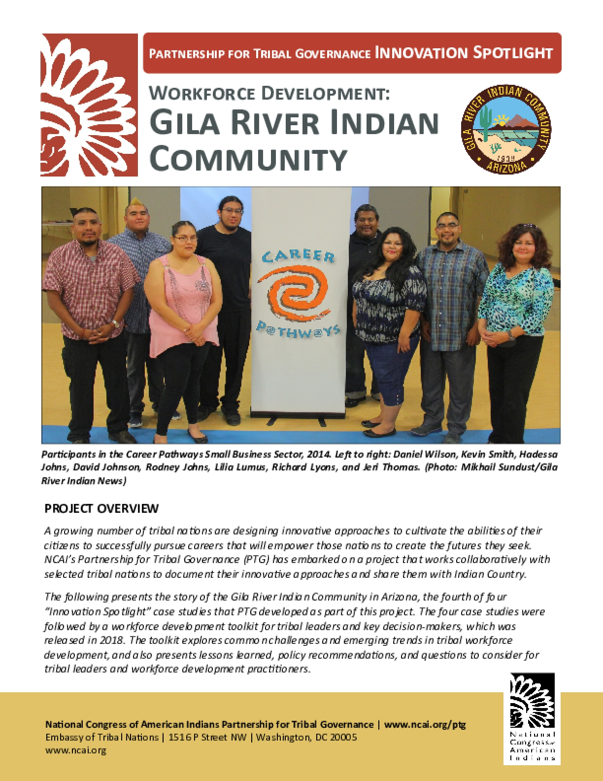 Workforce Development: Gila River Indian Community