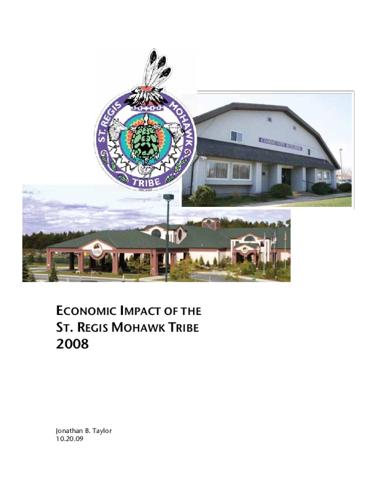 Economic Impact of the St. Regis Tribe 2008