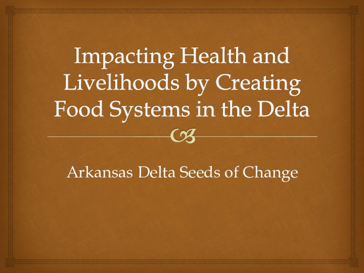 Impacting Health and Livelihoods by Creating Food Systems in the Delta