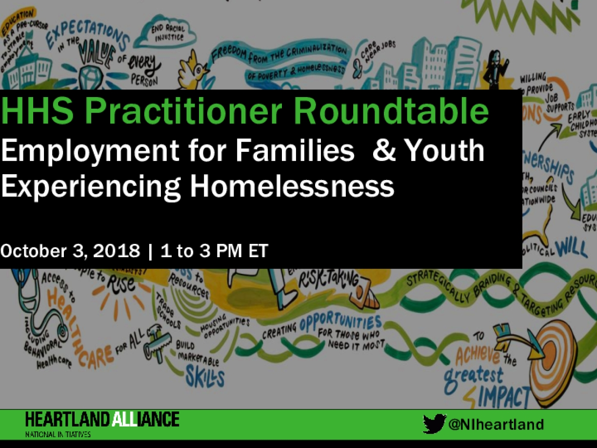 How HHS Can Help Families and Youth Experiencing Homelessness Succeed in Work (Slides)