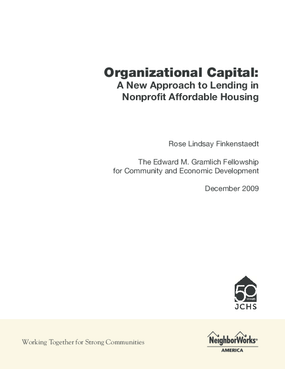 Organizational Capital: A New Approach to Lending in Nonprofit Affordable Housing