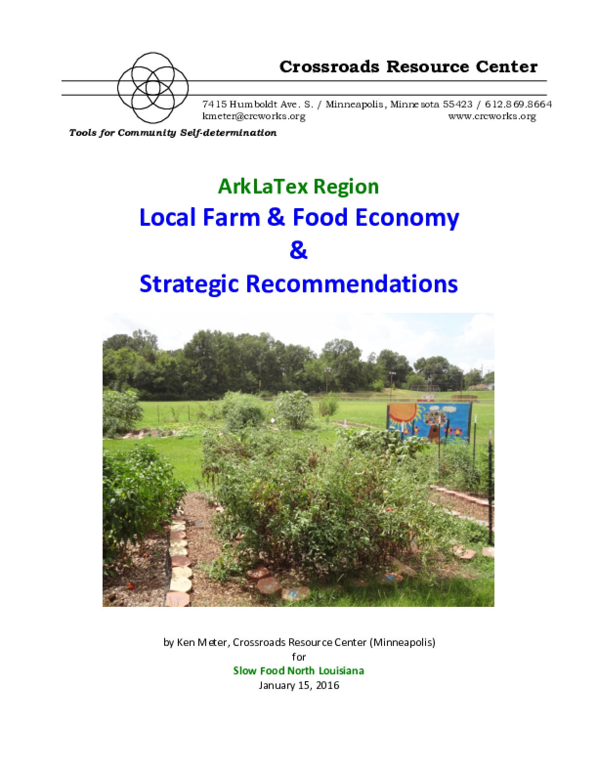ArkLaTex Region Local Farm & Food Economy & Strategic Recommendations