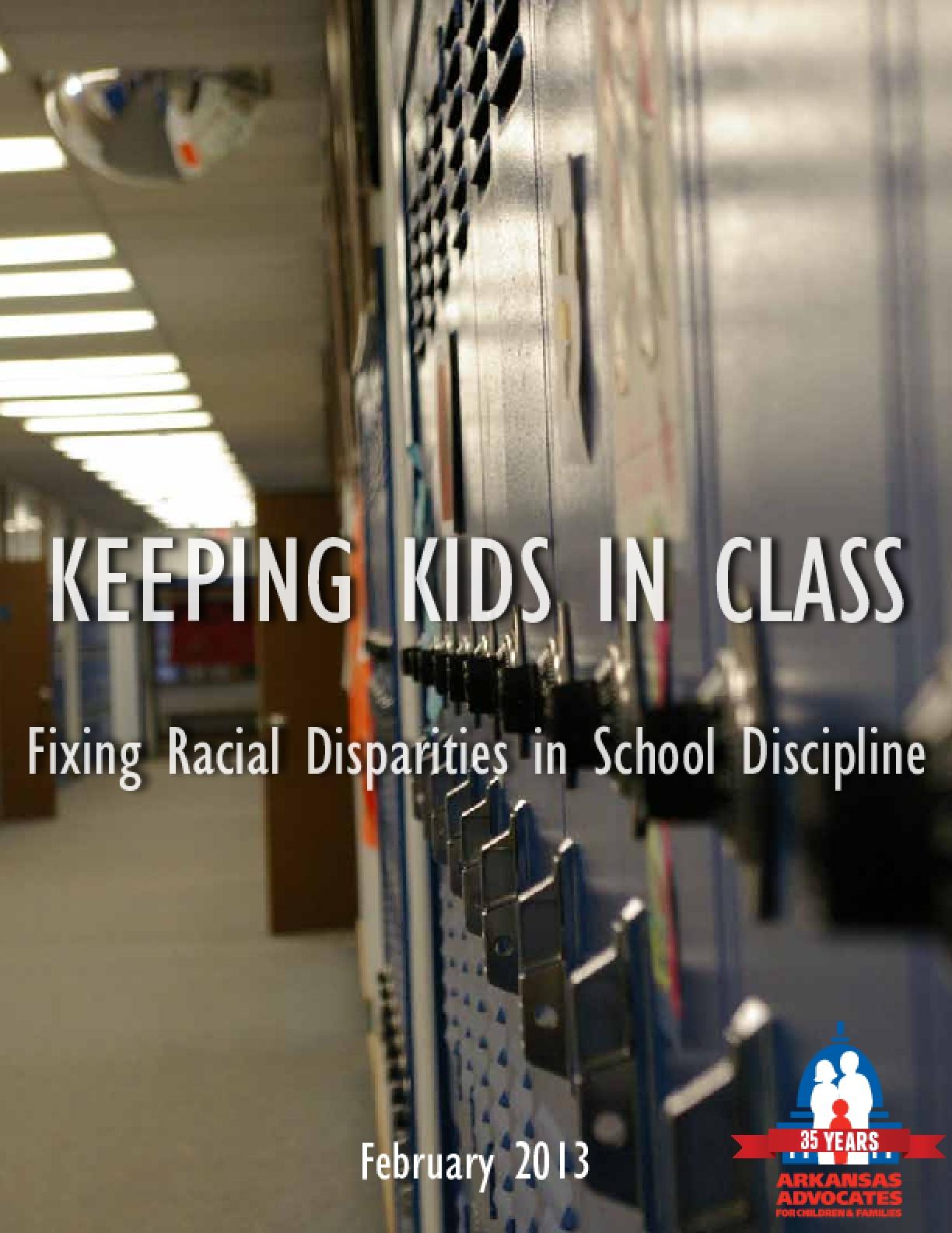 Keeping Kids in Class: Fixing Racial Disparities in School Discipline