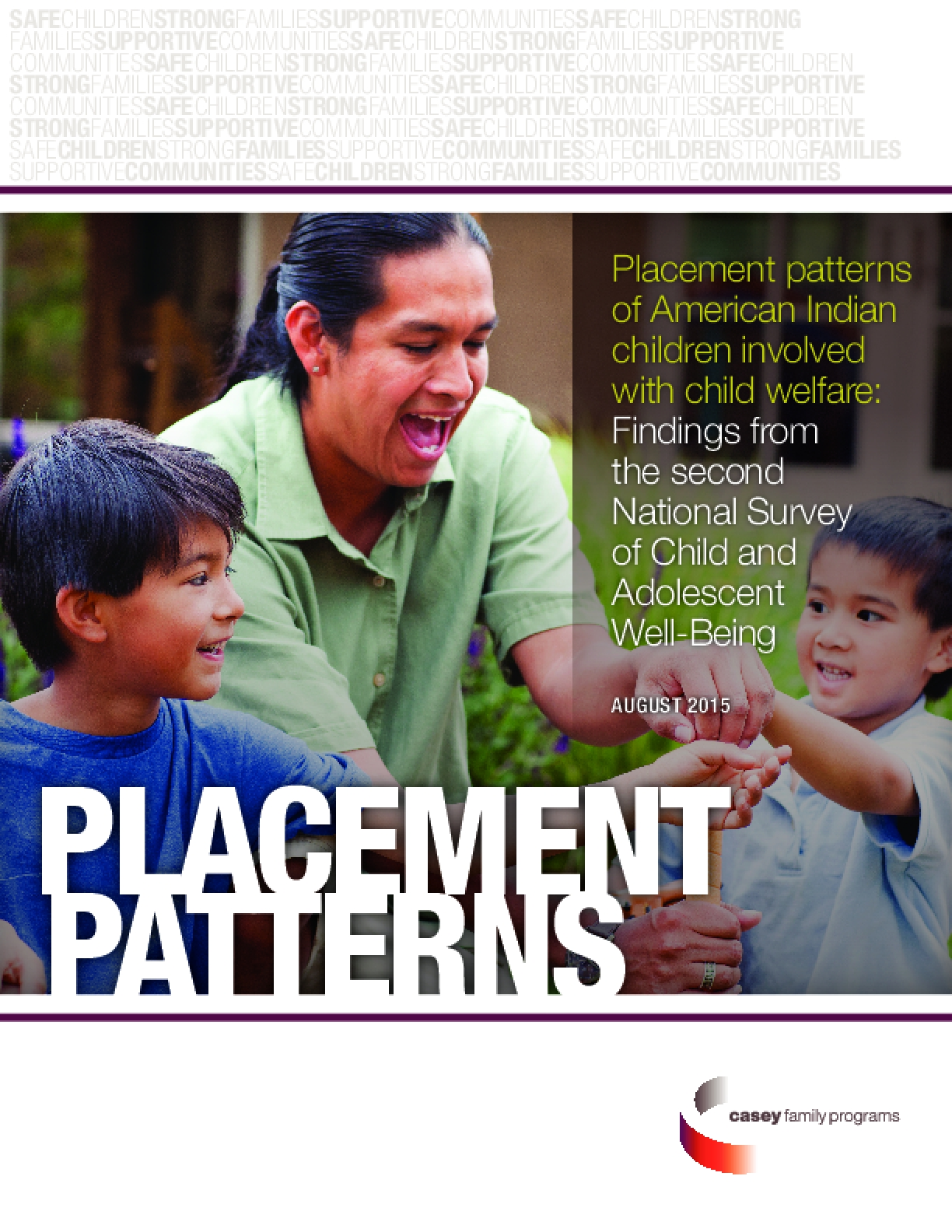 Placement patterns of American Indian children involved with child welfare: Findings from the second National Survey of Child and Adolescent Well-Being