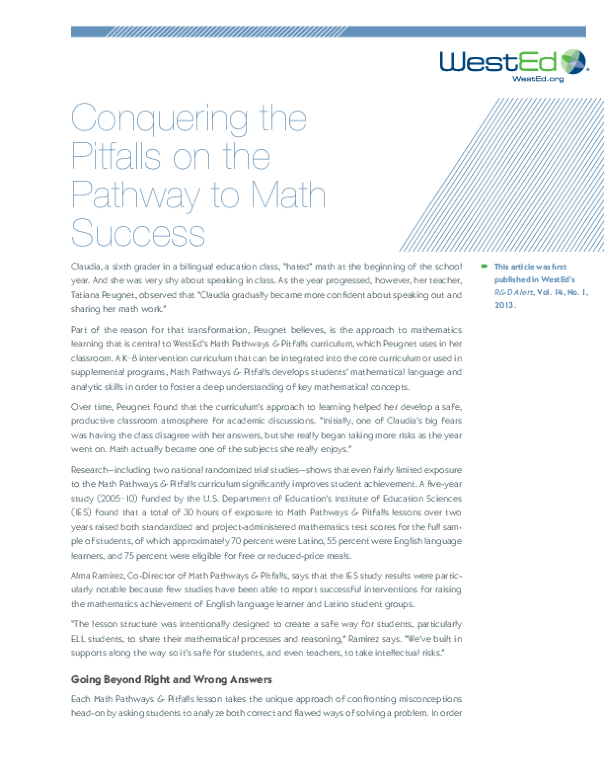 Conquering the Pitfalls on the Pathway to Math Success