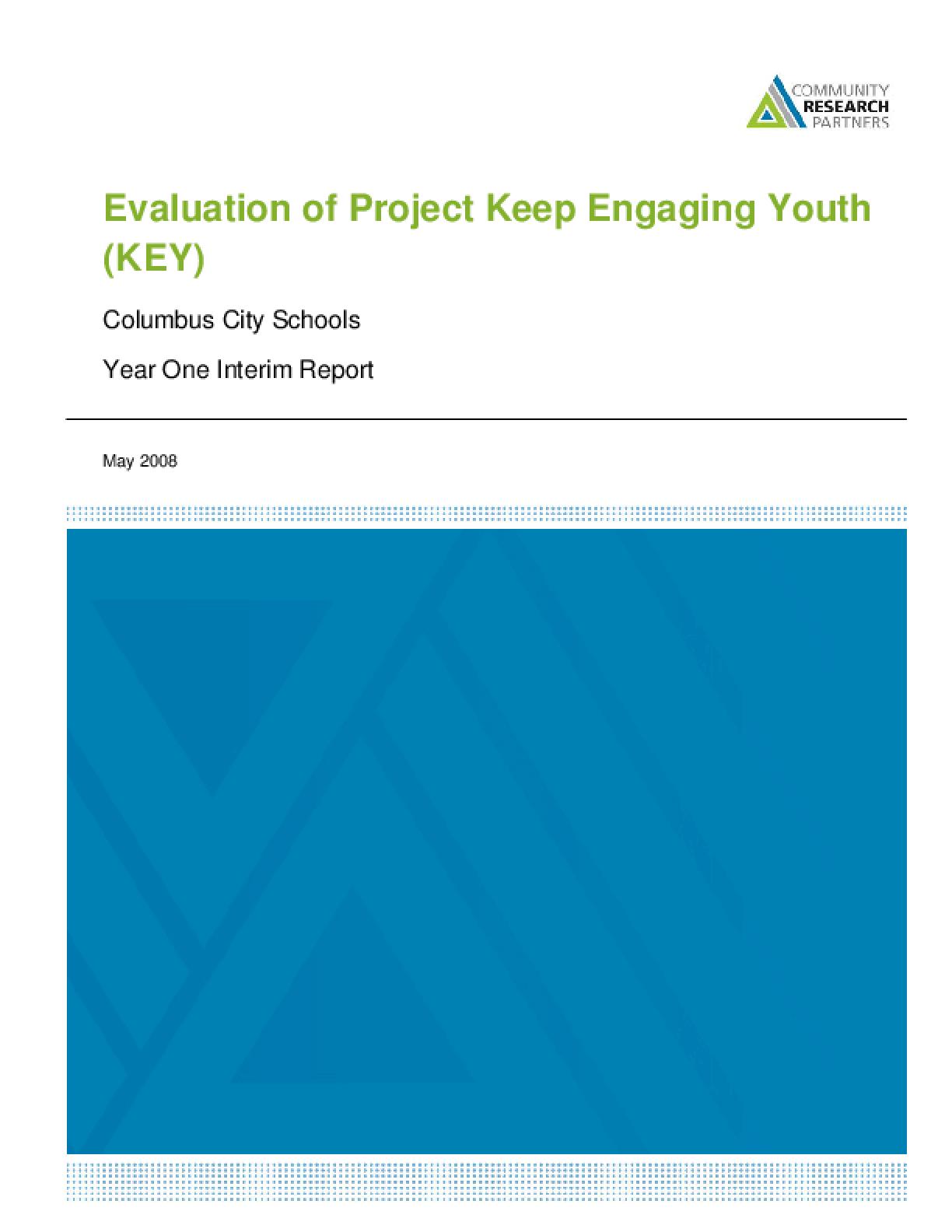 Keep Engaging Youth (KEY) Truancy Reduction Pilot Program Evaluation