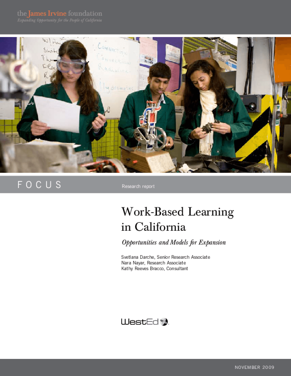Work-Based Learning in California: Opportunities and Models for Expansion