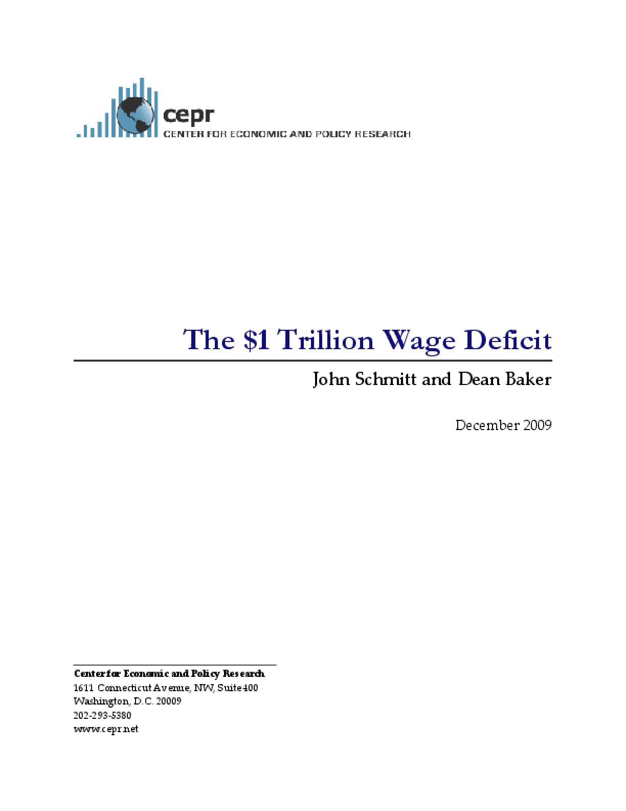 $1 Trillion Wage Deficit