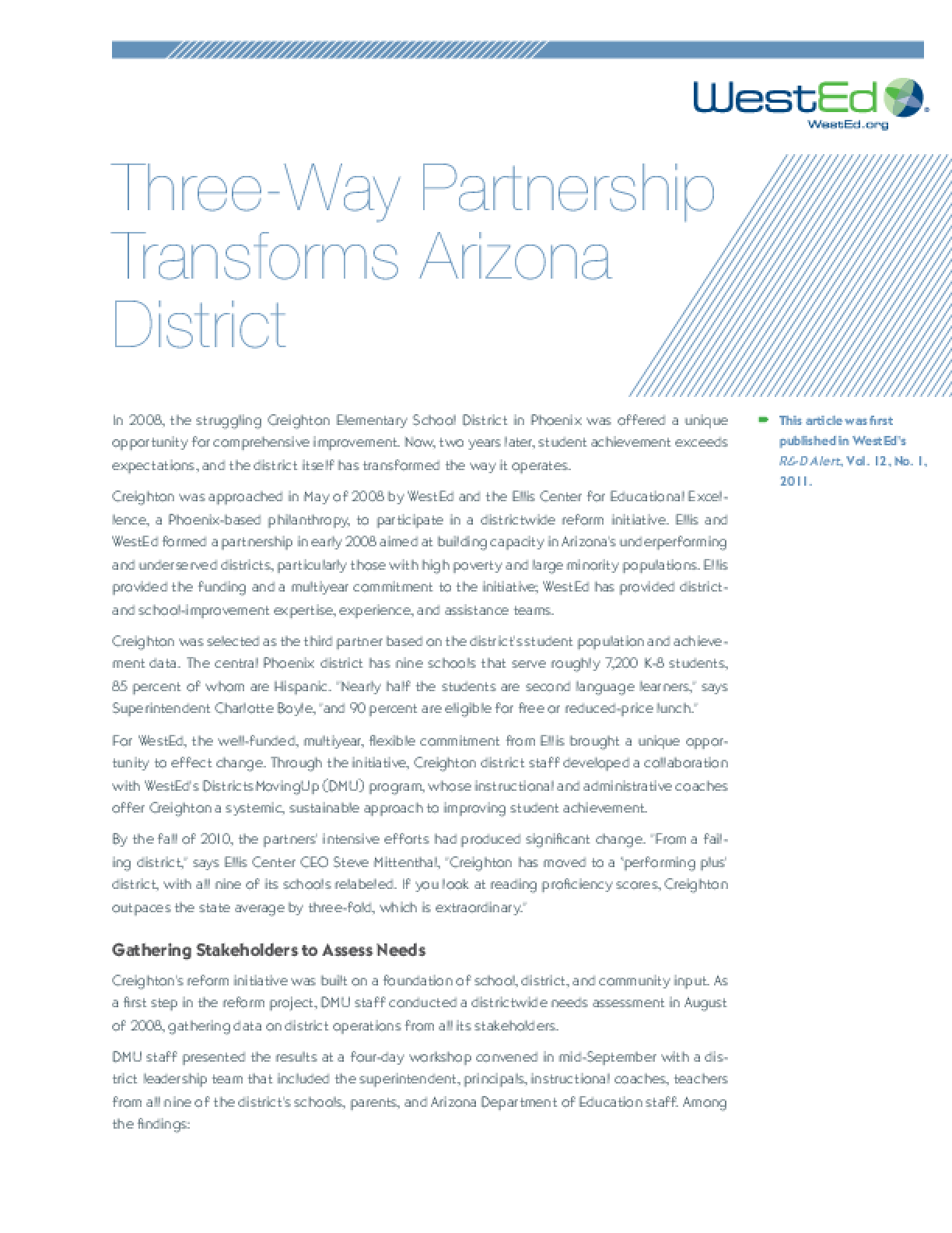 Three-Way Partnership Transforms Arizona District