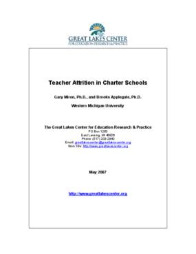 Teacher Attrition in Charter Schools