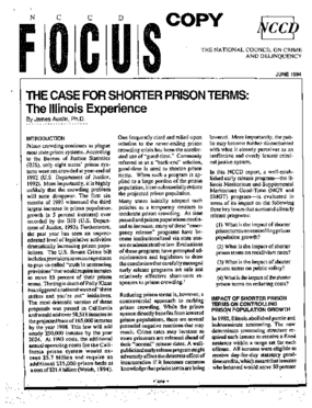 Case for Shorter Prison Terms: The Illinois Experience (FOCUS)