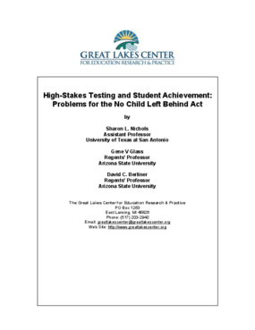 High-Stakes Testing and Student Achievement: Problems for the No Child Left Behind Act