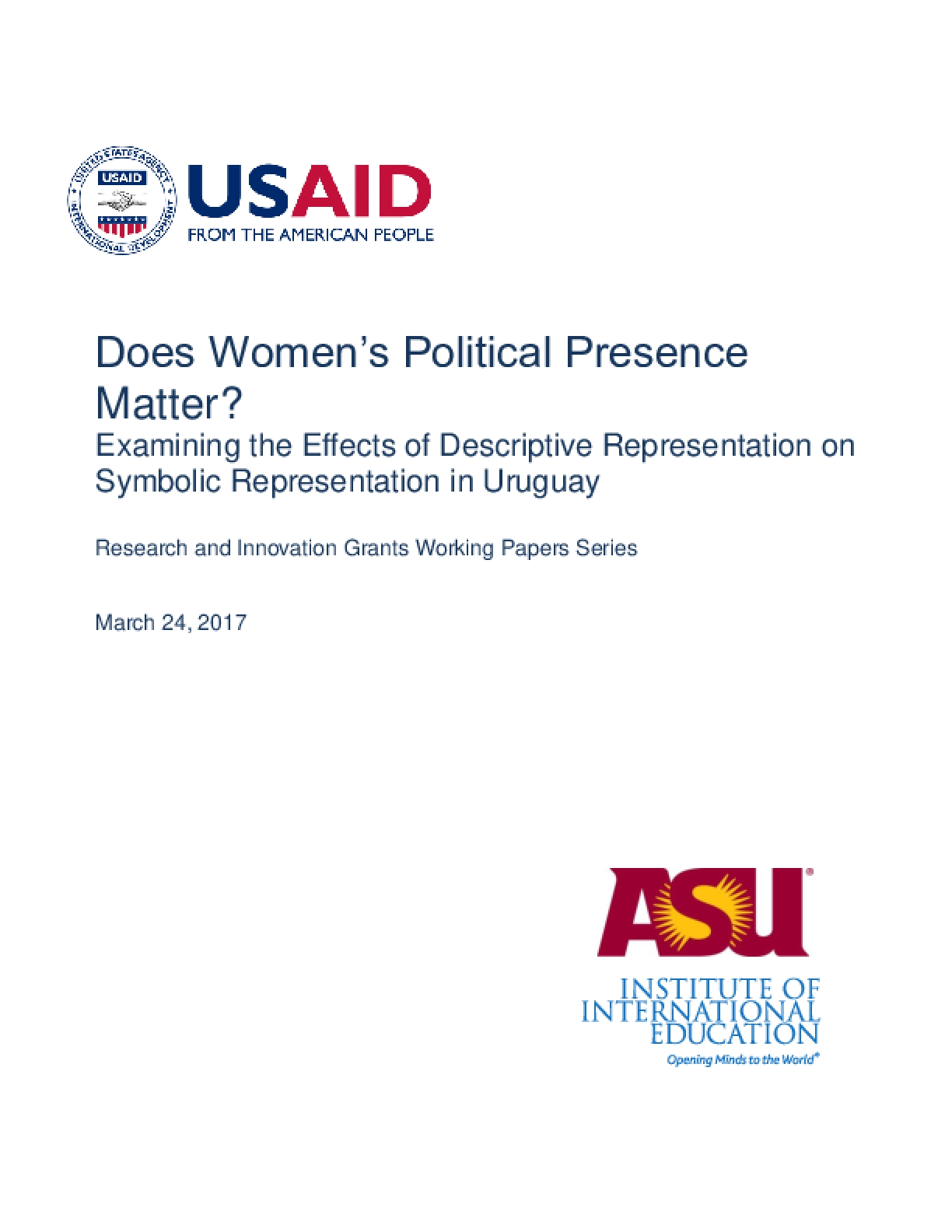 Does Women's Political Presence Matter? Examining the Effects of Descriptive Representation on Symbolic Representation in Uruguay