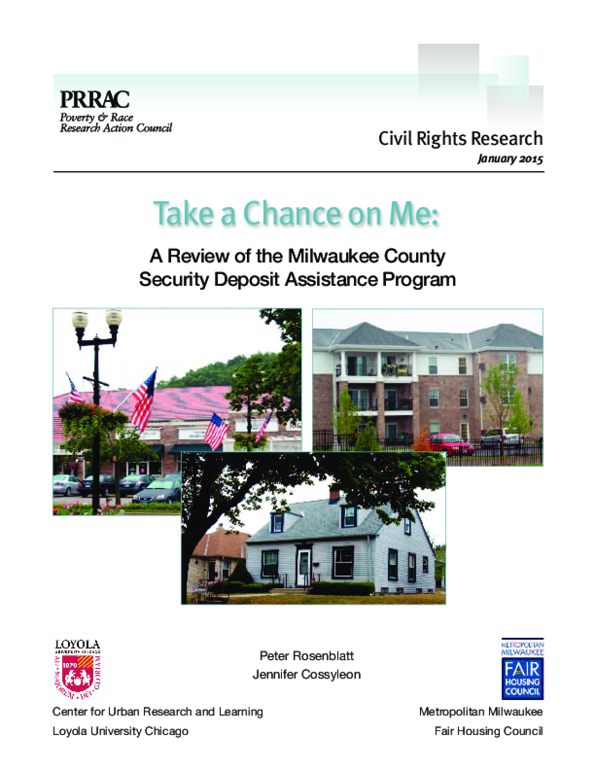 Take a Chance on Me: A Review of the Milwaukee County Security Deposit Assistance Program