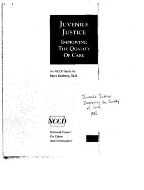 Juvenile Justice: Improving the Quality of Care