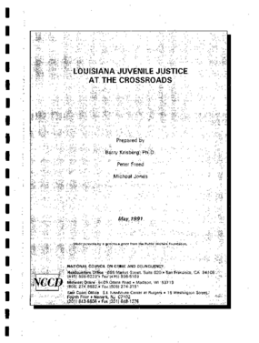 Louisiana Juvenile Justice at the Crossroads