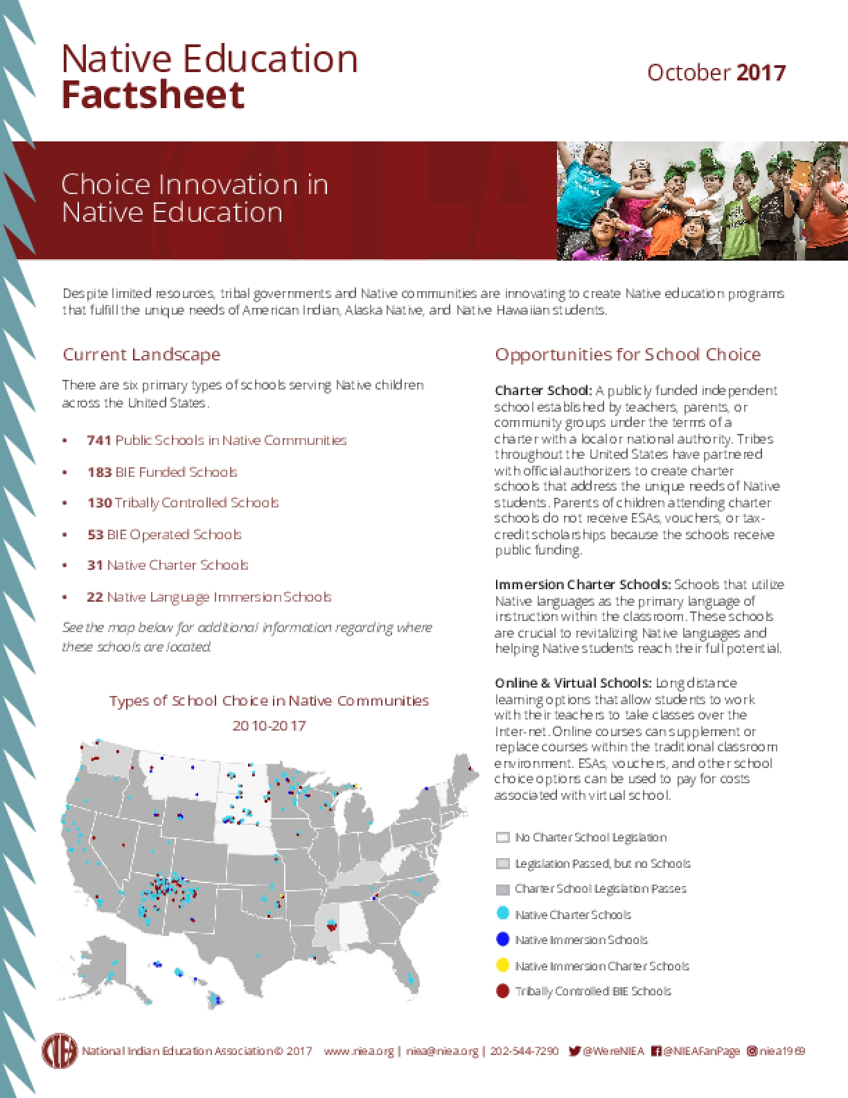 Native Education Factsheet: Choice Innovation in Native Education