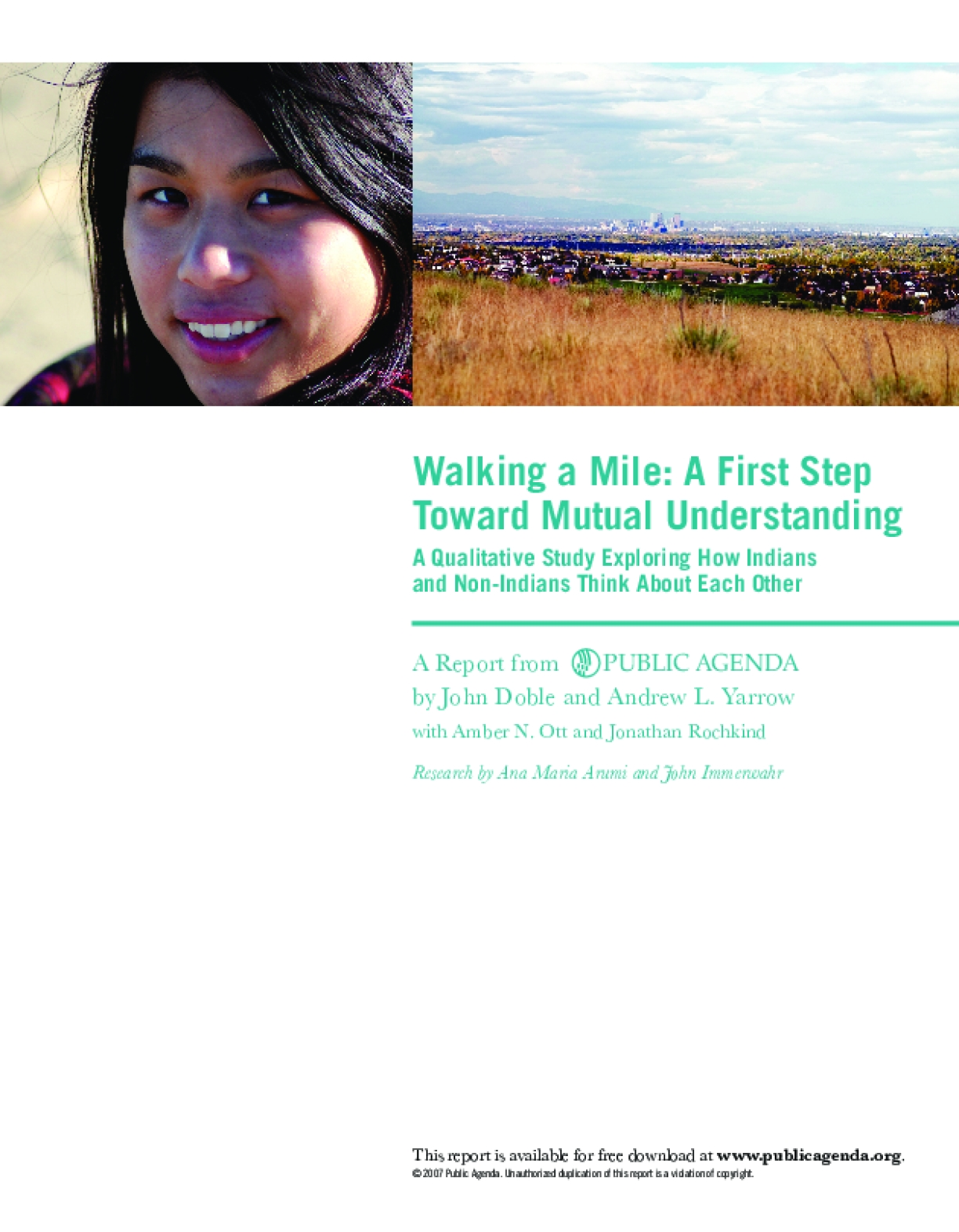 Walking a Mile: A First Step Toward Mutual Understanding - A Qualitative Study Exploring How Indians and Non-Indians Think About Each Other