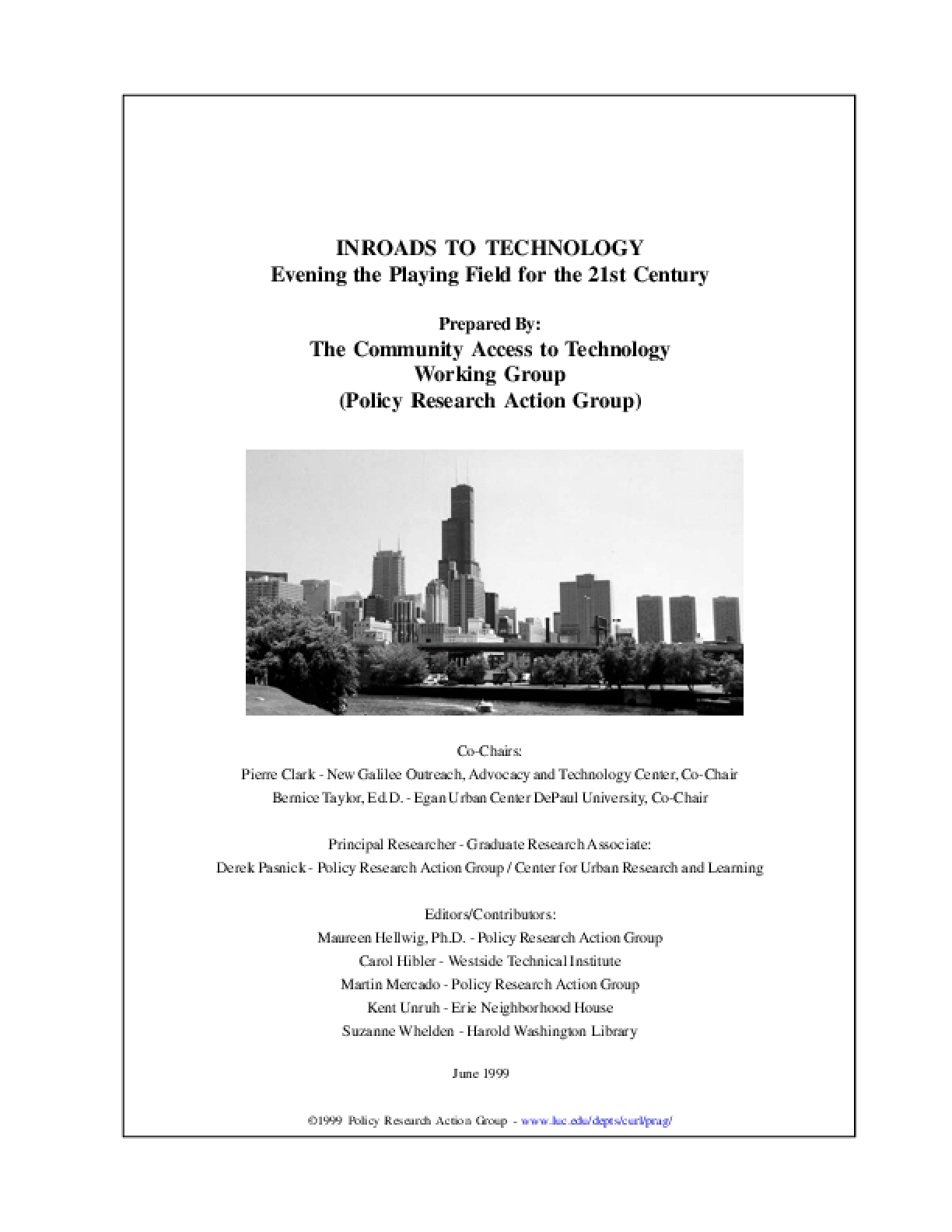 Inroads to Technology: Evening the Playing Field for the 21st Century