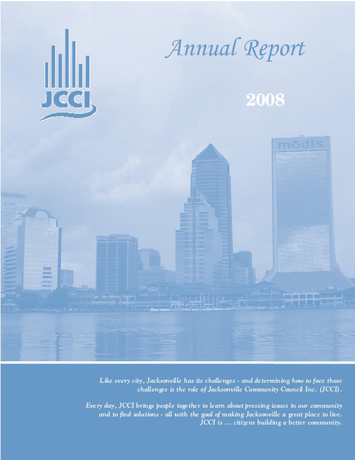 JCCI Annual Report 2008