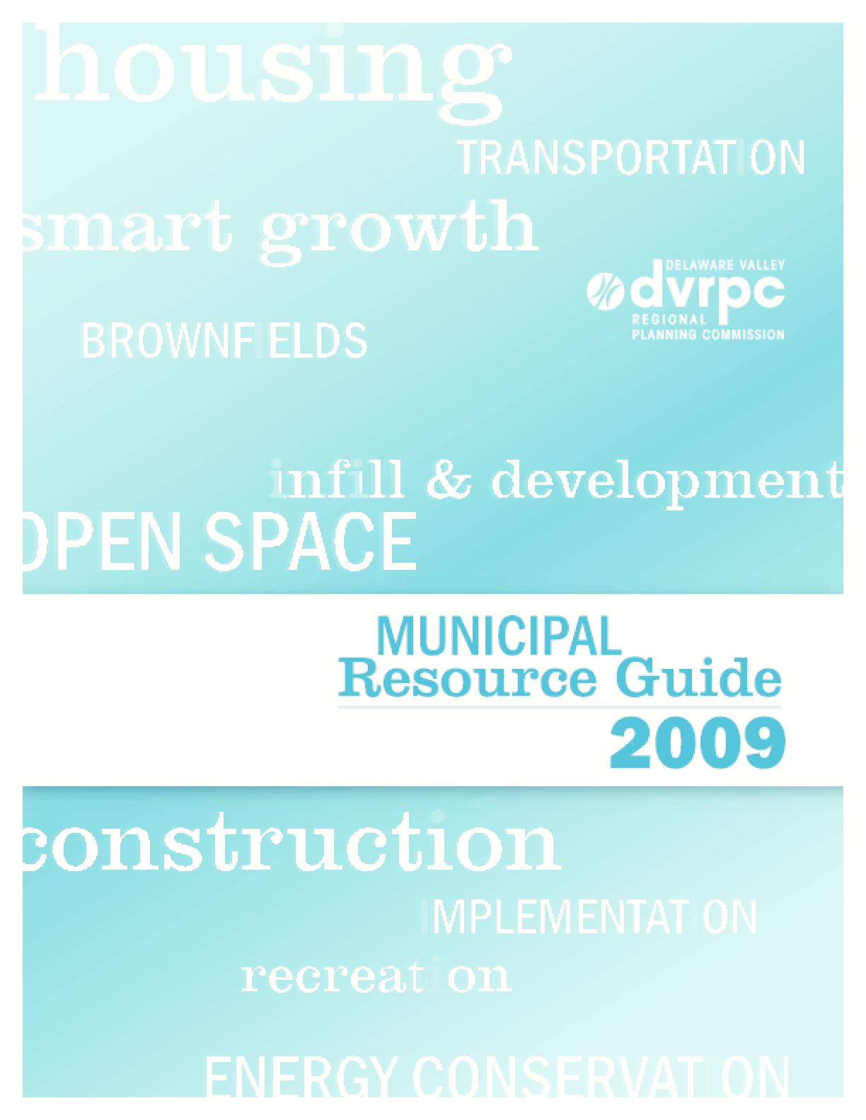 Municipal Resource Guide 2009