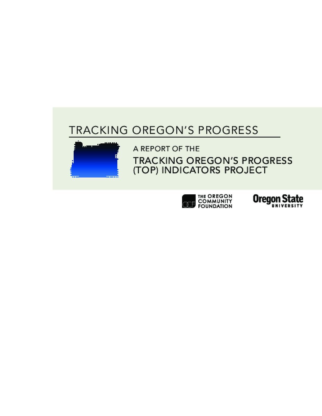 Tracking Oregon's Progress (TOP) Indicators Project