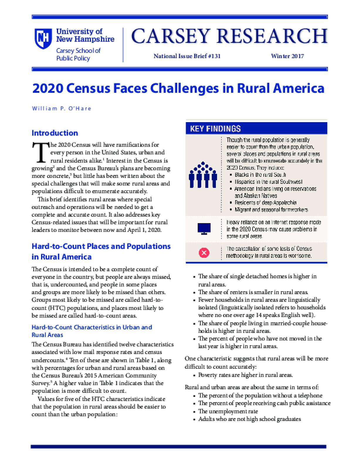 2020 Census Faces Challenges in Rural America