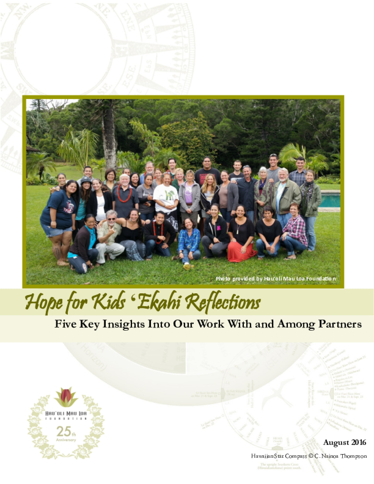 Hope For Kids 'Ekahi Reflections - Five Key Insights Into Our Work With and Among Pages
