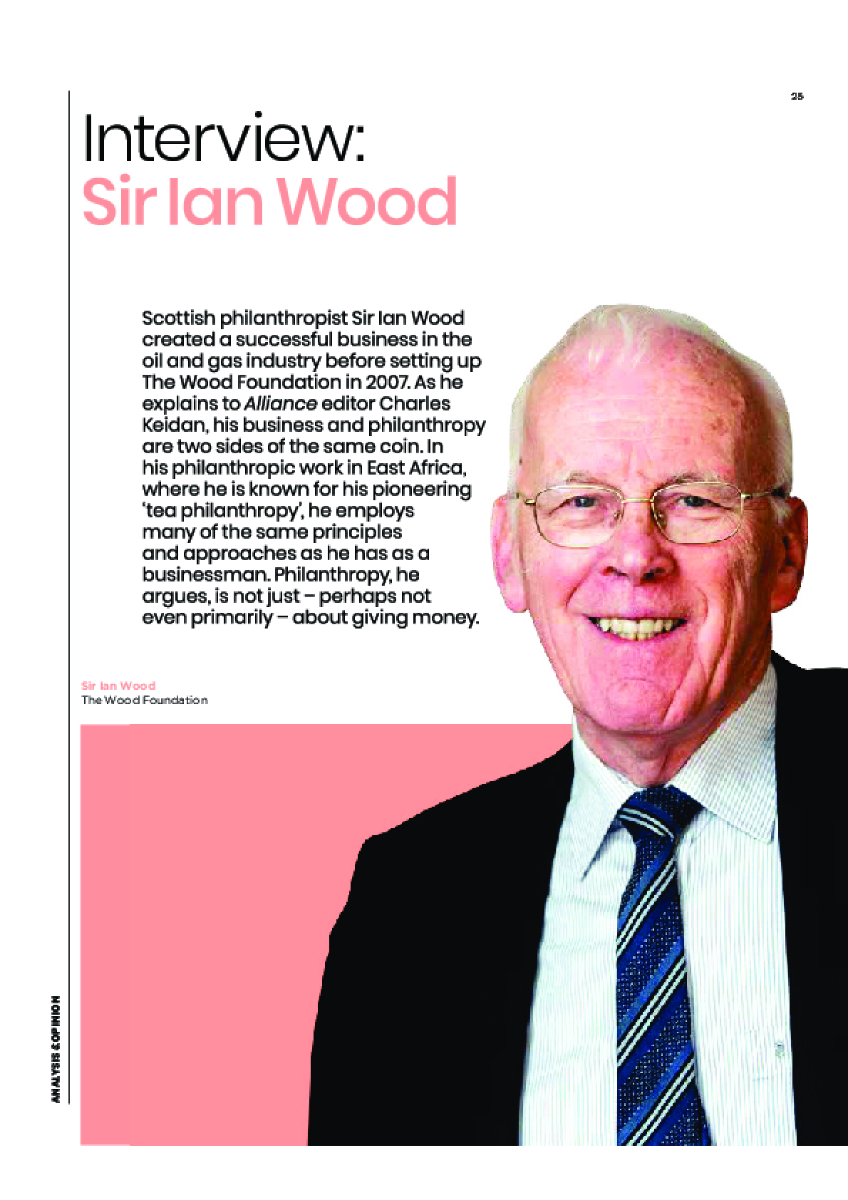 Interview: Sir Ian Wood