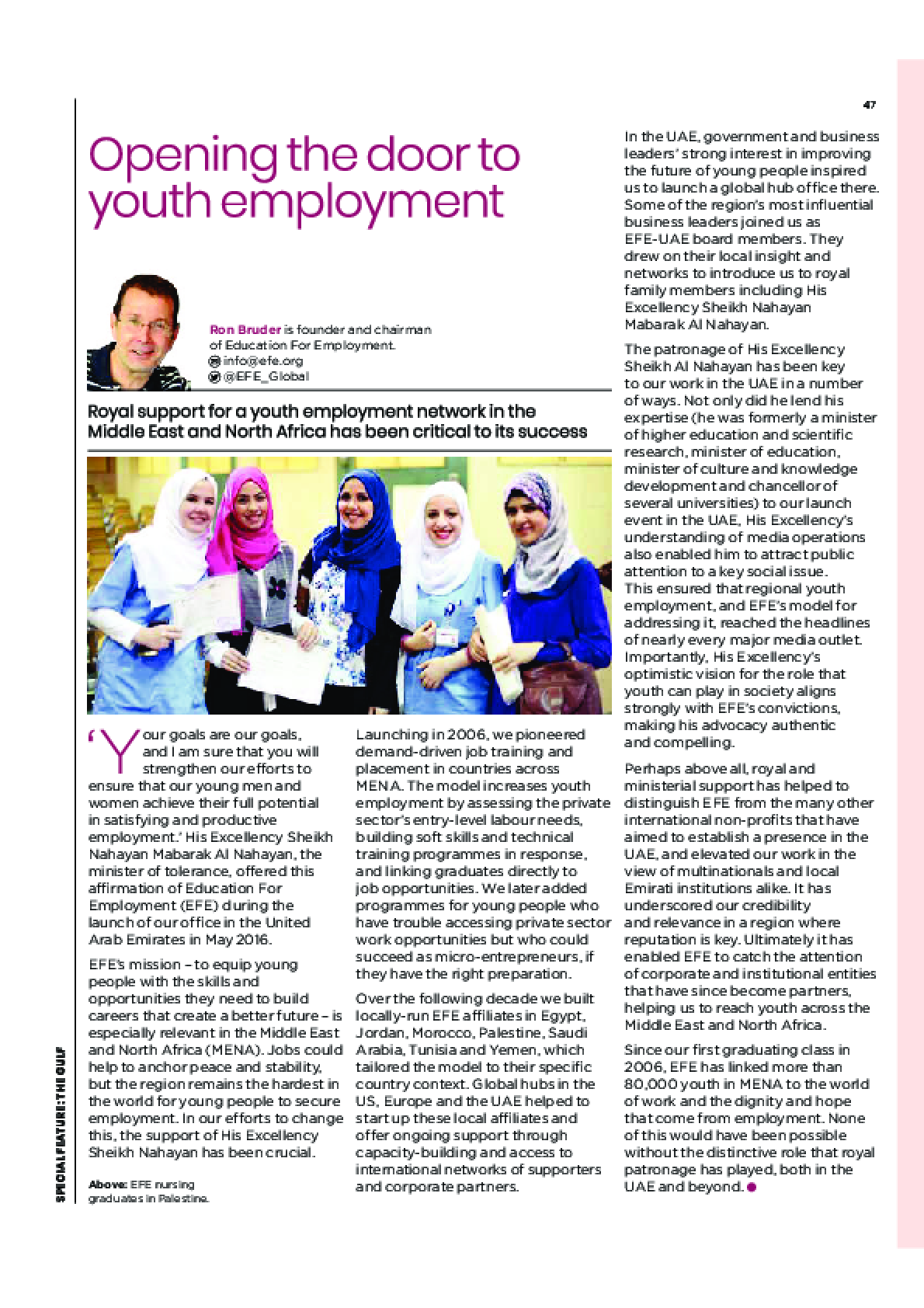 Opening the door to youth employment