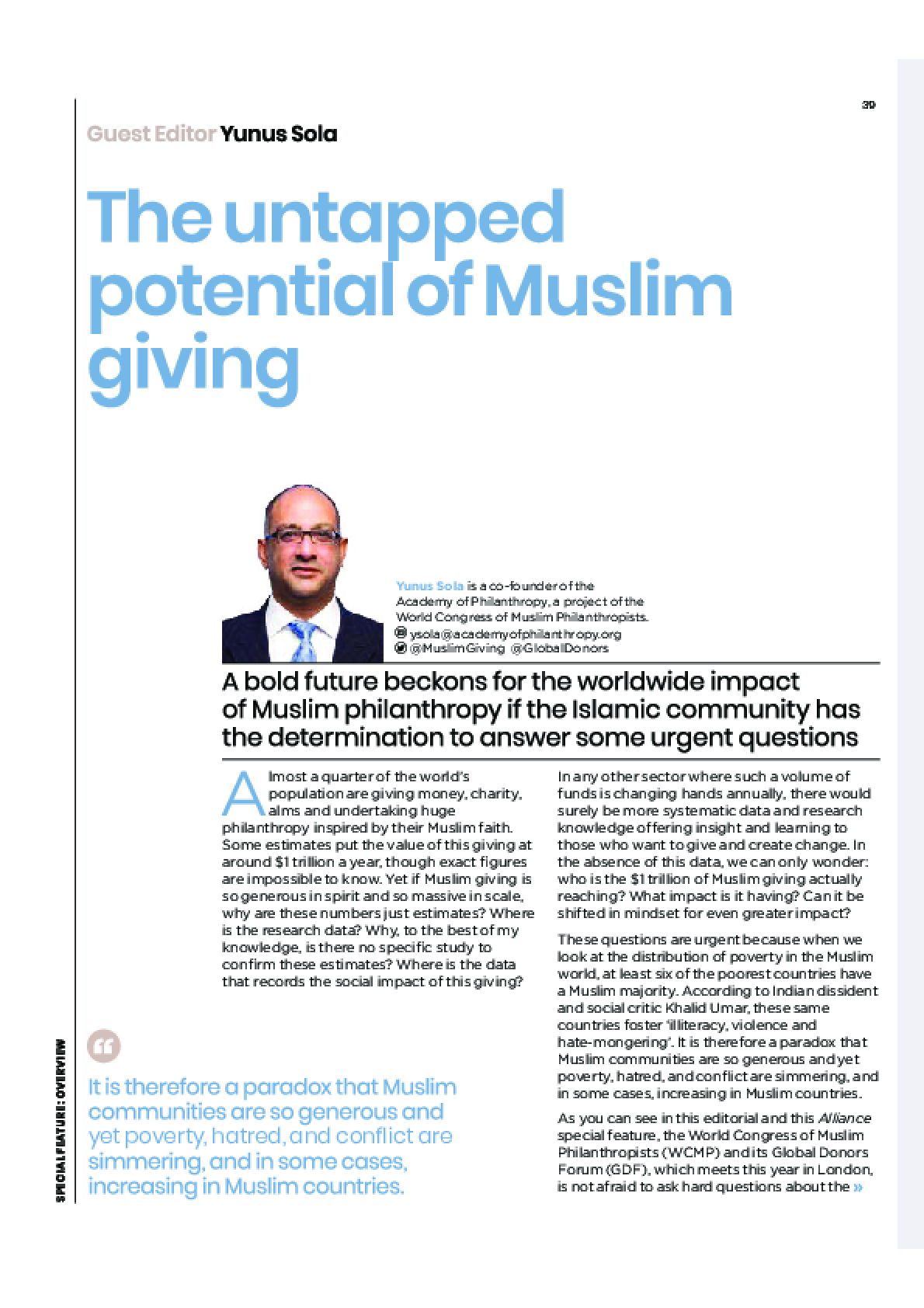 The untapped potential of Muslim giving