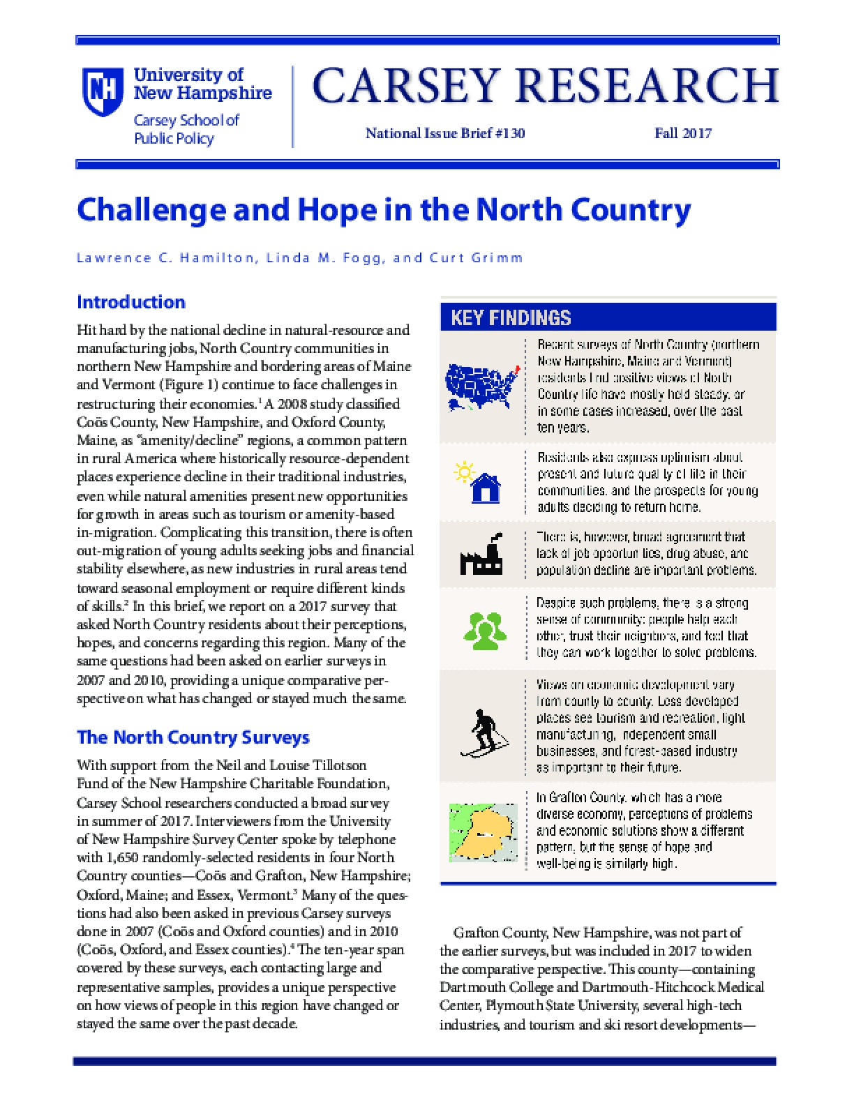 Challenge and Hope in the North Country