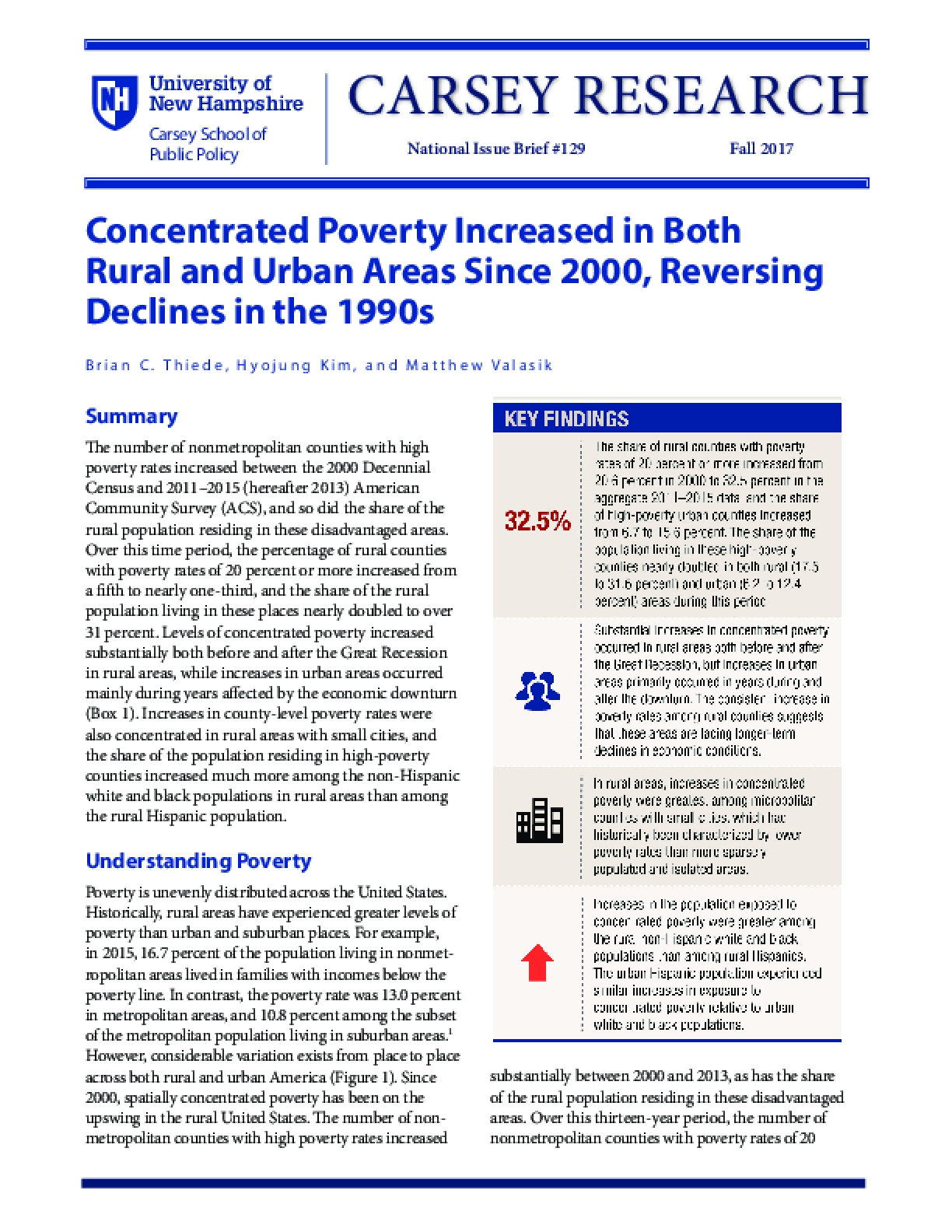 Concentrated Poverty Increased in Both Rural and Urban Areas Since 2000, Reversing Declines in the 1990s