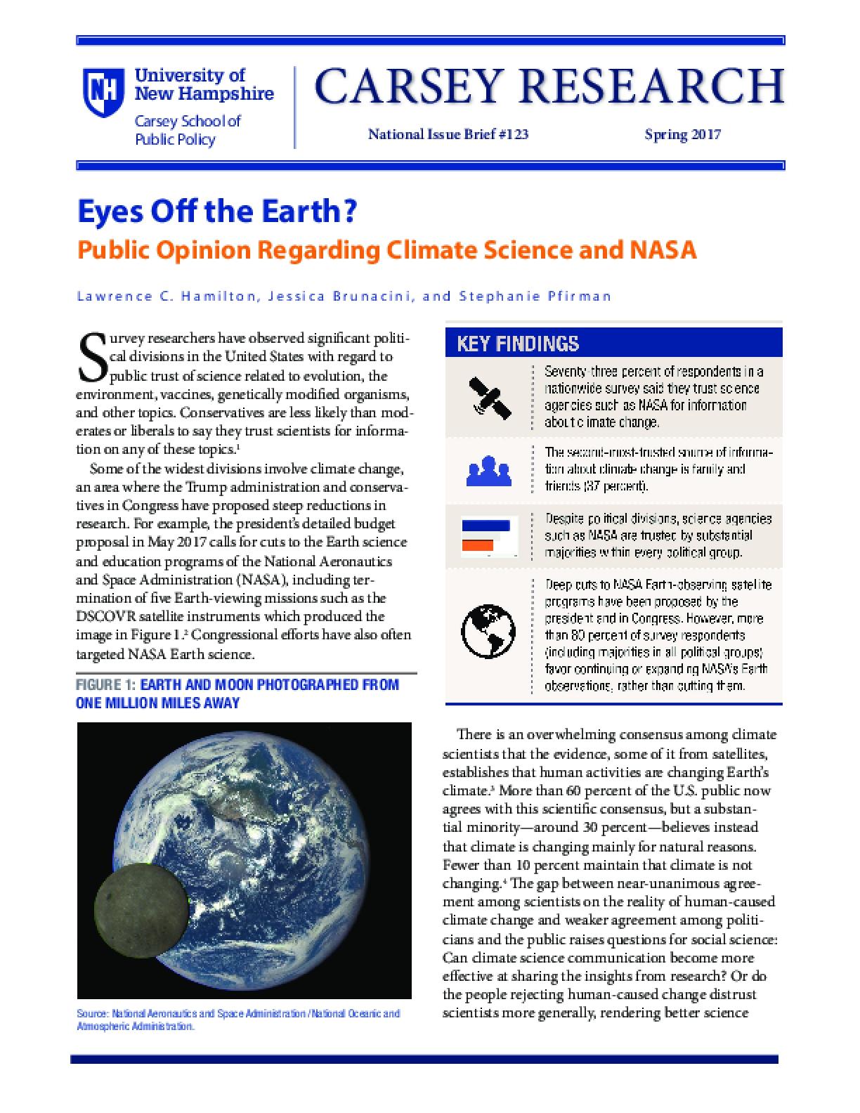 Eyes Off the Earth?